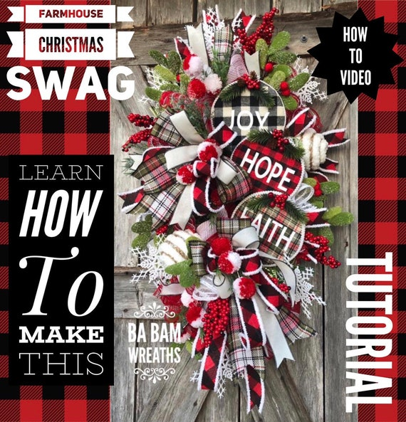 How To Video, How To Wreath, Wreath Tutorial, Christmas Wreath, Christmas Swag, Holiday Wreath