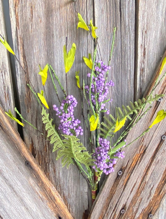Purple Berry pick, Wreath Supply, Floral