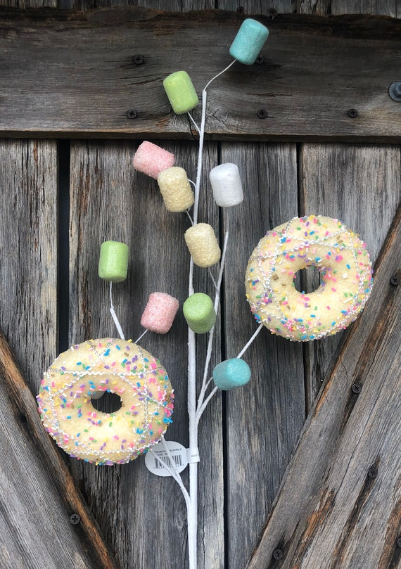 Donut Marshmallow Spray, Wreath Supply, Floral