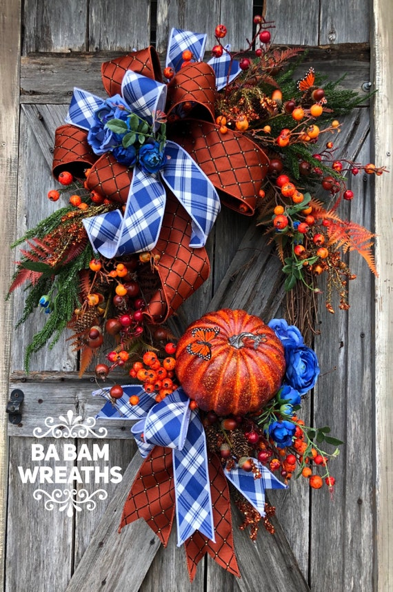 Fall Wreath, Fall Swag, Autumn Swag, Autumn Wreath, Rustic Fall Wreath, Halloween Wreath, XL Fall Wreath