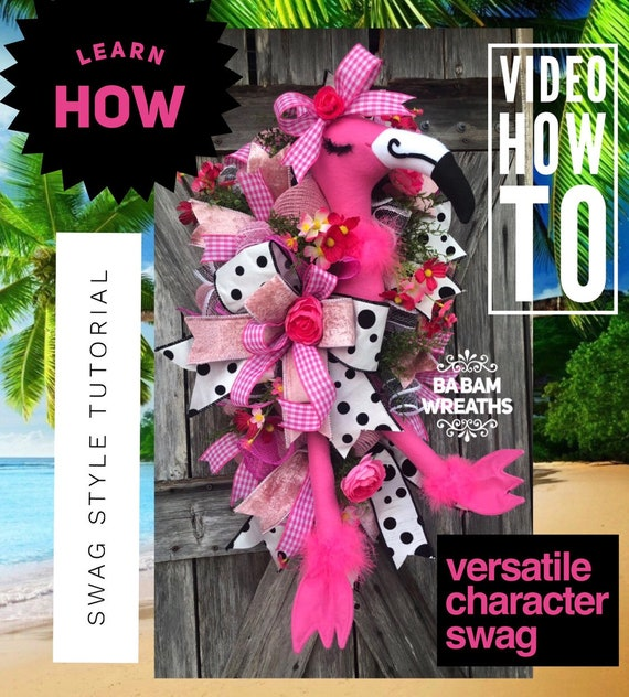 How To Video, How To Wreath, Wreath Tutorial, Summer Wreath, Summer Swag, Character Wreath