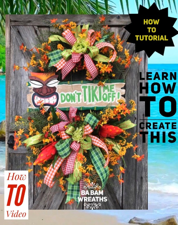 How To Video, How To Wreath, Wreath Tutorial, Grapevine Wreath, Summer Wreath