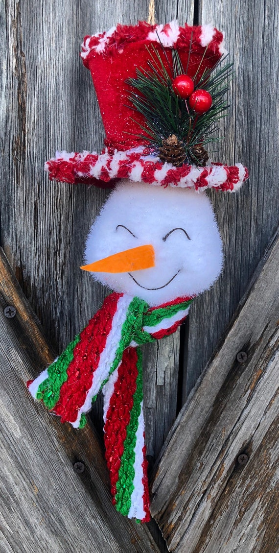 Snowman Ornament 7 inches