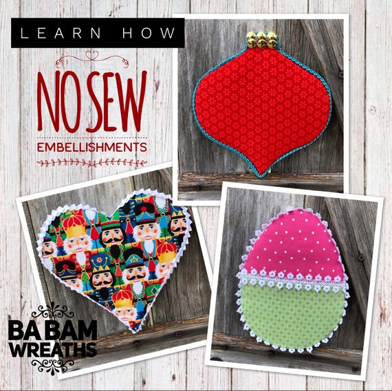 How To Video, How To No Sew Embellishments, No Sew Tutorial