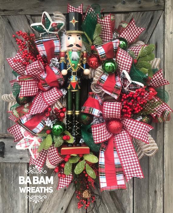 Nutcracker, Nutcracker Wreath, Christmas Wreath, Holiday Wreath, Christmas Decor
