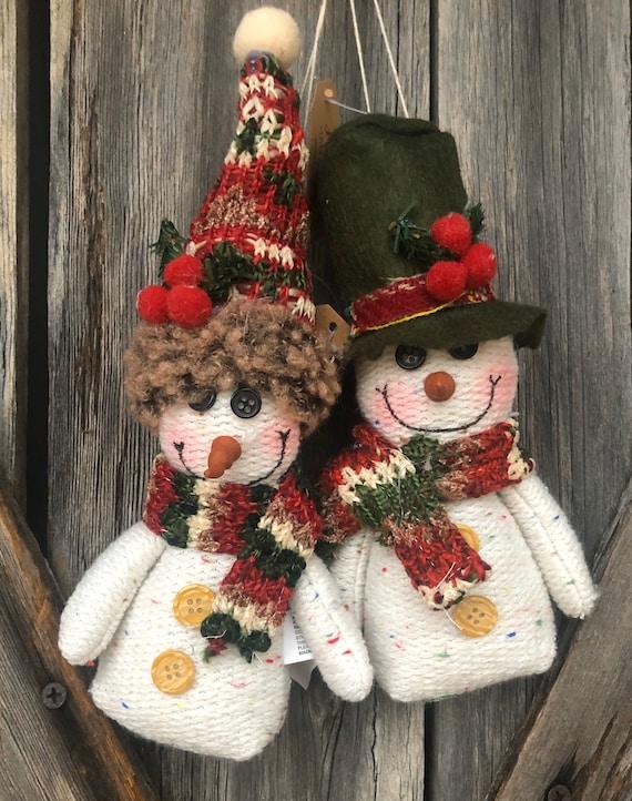 Set Of Two Snowmen