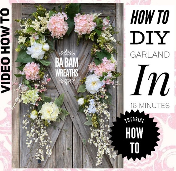 How To Video, How To Wreath, Wreath Tutorial, Floral Wreath, Floral Garland, Wedding Wreath, Wedding Garland