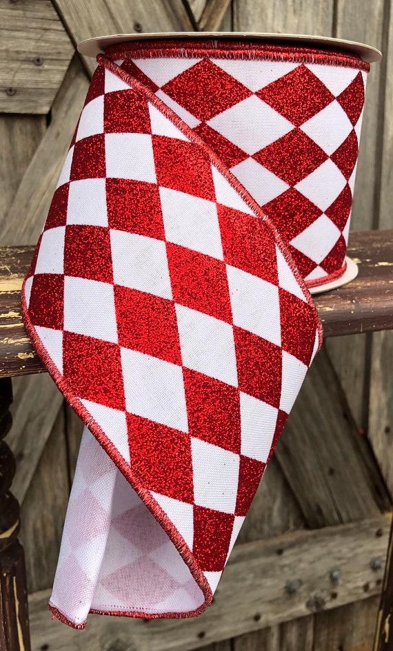 Wired Ribbon ~ 4 Inch Ribbon ~ Red Ribbon ~ 10 Yards