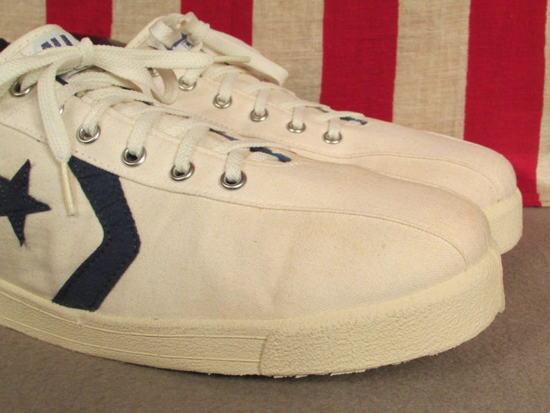 98c2b713383a Vintage 1980s Converse All Star Tennis Shoes Canvas Sneakers