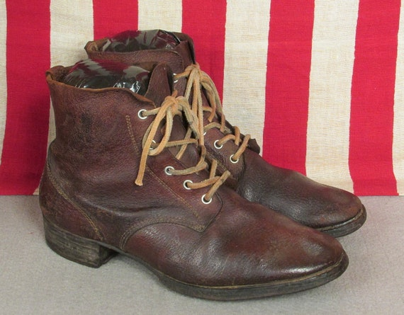 Vintage 1940s Japanese Leather Military Work Boots