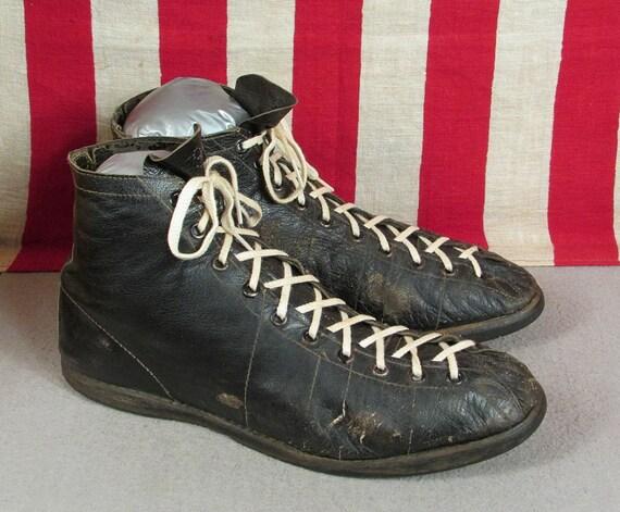 Vintage 1930s Wilson Black Leather Basketball Snea