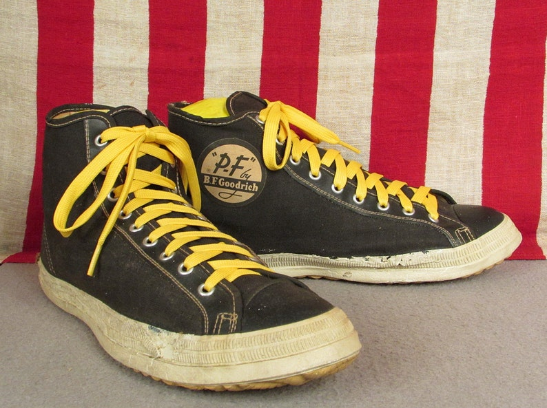e45ae1d014dd2 Vintage 1950s PF Flyers Canvas Basketball Sneakers BF Goodrich Athletic  Shoes 8.5