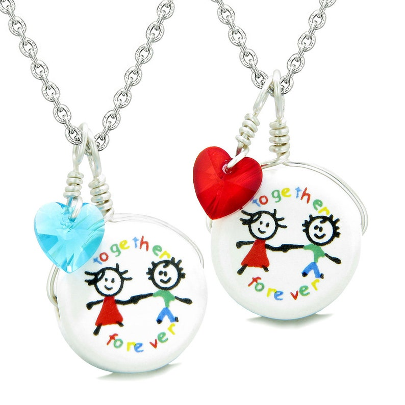 21c7e9dd35 Love Couples Best Friends Forever Together Set Ceramic Charm   Etsy