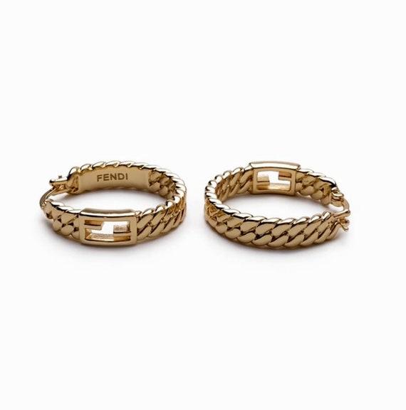 FENDI earrings | gold hoop Fendi earrings | authen