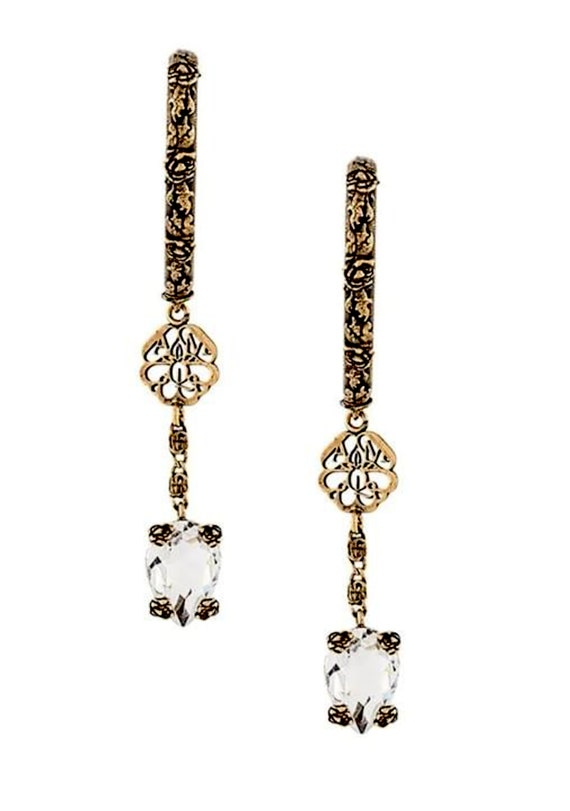 Alexander McQueen earrings |  MCQUEEN drop earring
