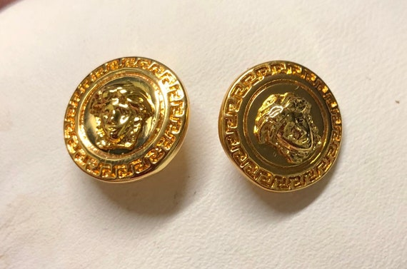 Small VERSACE earrings | Versace medusa gold fanc… - image 7