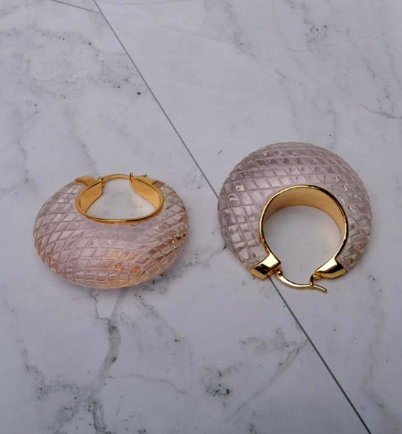 CELINE earrings | gold Celine hoop earrings | aut… - image 8