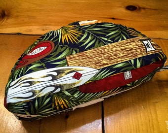 Crescent - Surf - Travel Meditation cushion organic buckwheat - handmade by Creations Mariposa