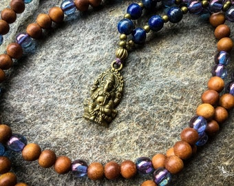6mm Ganesha Mala Beads 108 mantra ganesh japa meditation mindfulness yoga boho jewelry handmade by Creations Mariposa