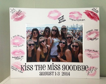 Kiss the Miss Goodbye Bachelorette Picture Mat