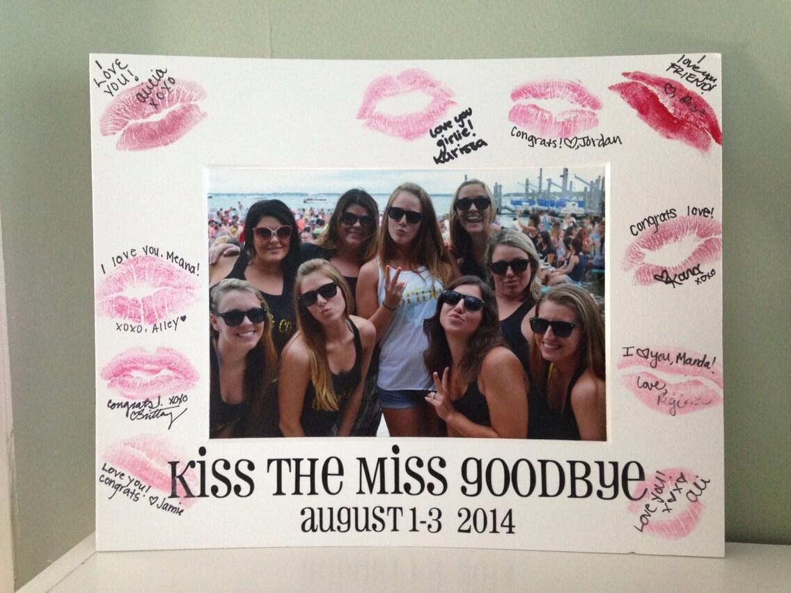 Kuss der Miss Abschied Bachelorette Bild-Matte | Etsy