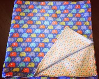 Flannel Elephant Baby Blanket//Gender Neutral Baby Blanket