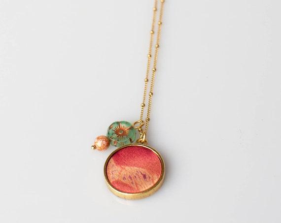 Hibiscus Flower Silk Necklace