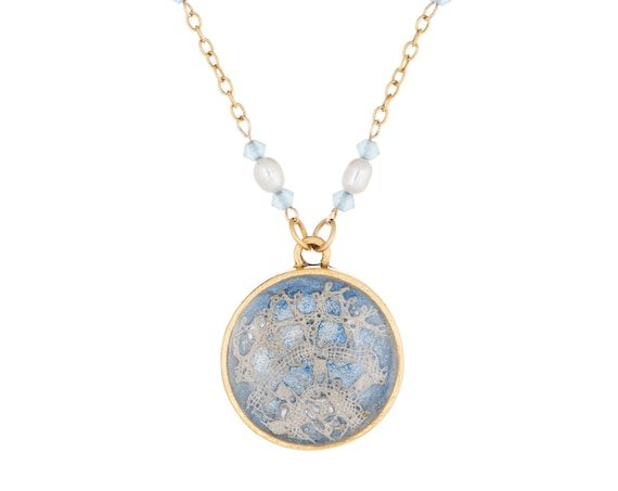 Something Blue Lace Necklace