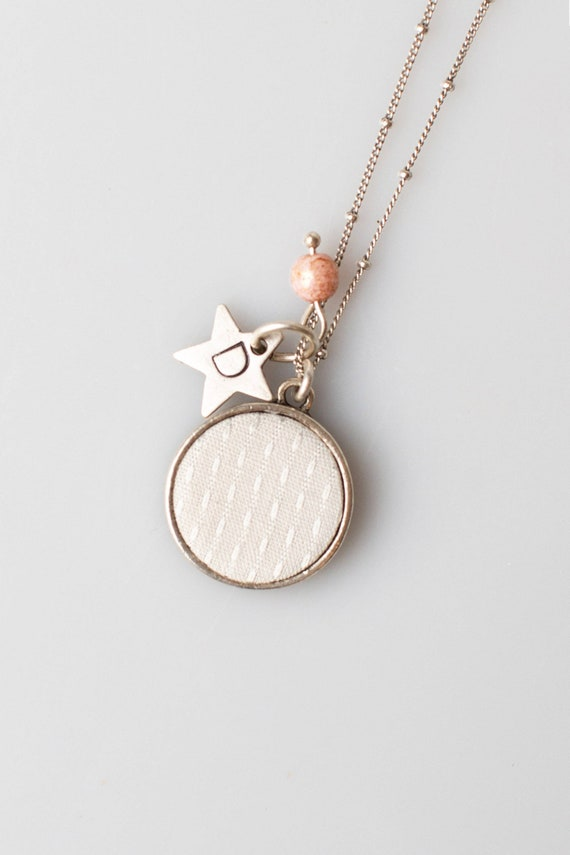 Baby Memory Initial Necklace