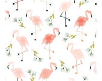 Baby Girl Crib Flamingo Theme. Flamingo Bedding Coral Crib Sheet