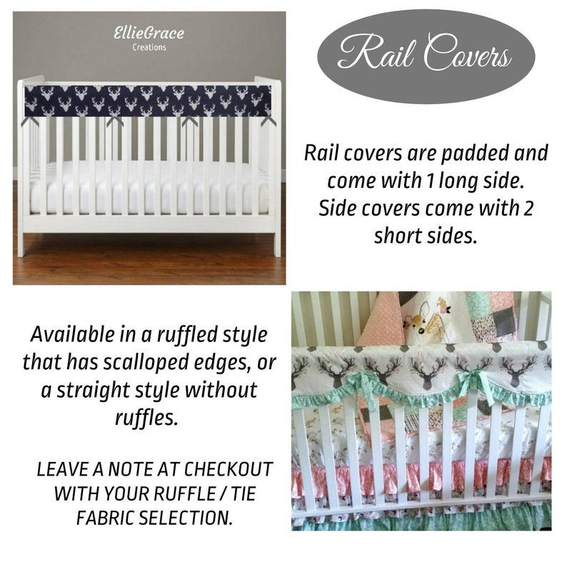 Floral Fox in Black Crib Bedding Crib Sheet Skirt Rail Cover Boppy Changing Pad Cover Minky Blanket Curtain Girls Baby Quilt September