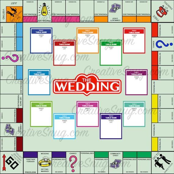 30 % Rabatt auf individuellen für Sie Monopoly Stil Hochzeit | Etsy