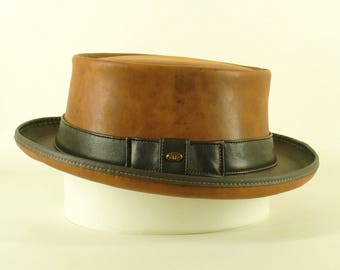 3d010f5a8c9db Kangaroo leather wireless Pork Pie Hat