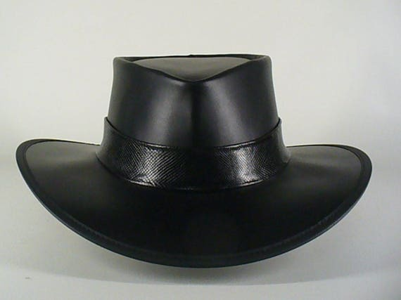 bf9a2a73b12 Black leather Axl Rose style   Guns  n Roses tribute hat