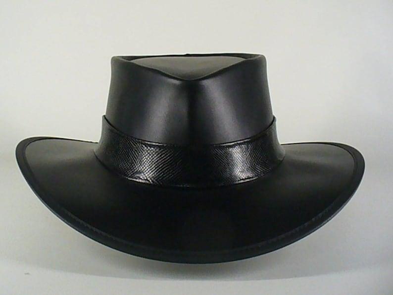 6ce8c3d3cf95 Black leather Axl Rose style / Guns 'n Roses tribute hat | Etsy