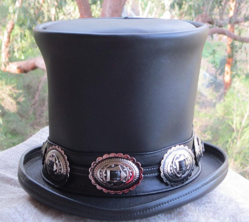Australiano artesanal cuero negro Slash estilo   homenaje  6ab7fedefb13