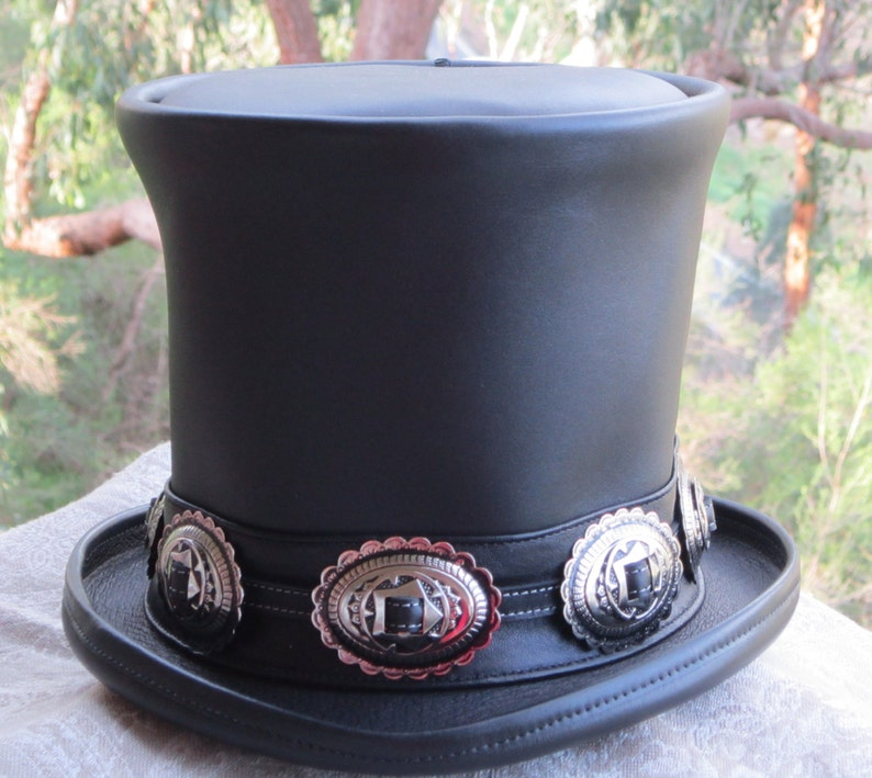 493cc6386bdee0 Australian hand crafted black leather Slash style / tribute | Etsy