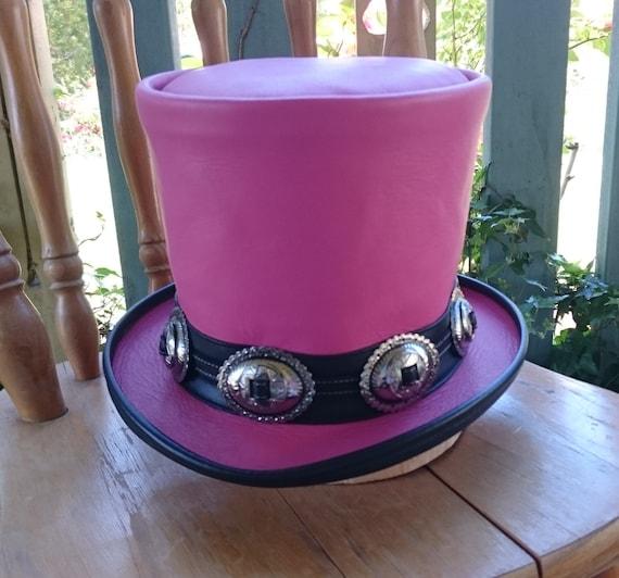 Pink leather Australian hand crafted Slash tribute Guns  n  3df99a45fda1