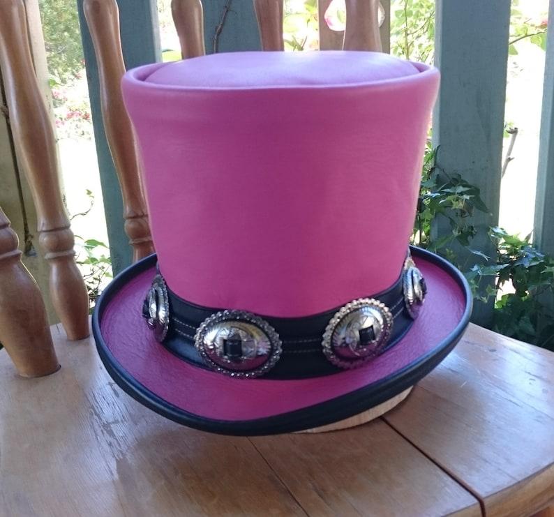 Pink leather Australian hand crafted Slash tribute Guns  n  4f41c9218be
