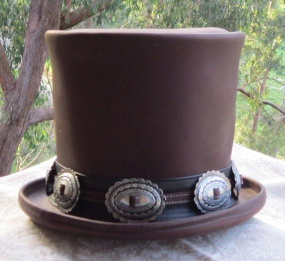 Fabricado a mano en cuero marrón Guns n  Roses Slash  18891a9d55e2