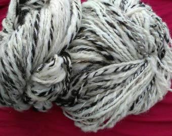 Hand spun Jacob sheep wool