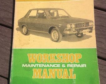 d1d122a997 Vintage 1971-1972 Renault 12 Workshop Maintenance   Repair Manual by Drake  Publishers