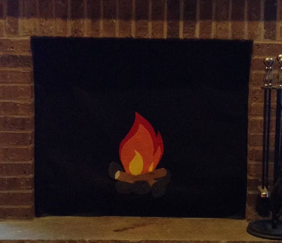 Fireplace Cover Custom Made With Inserted Magnets For Metal Etsy