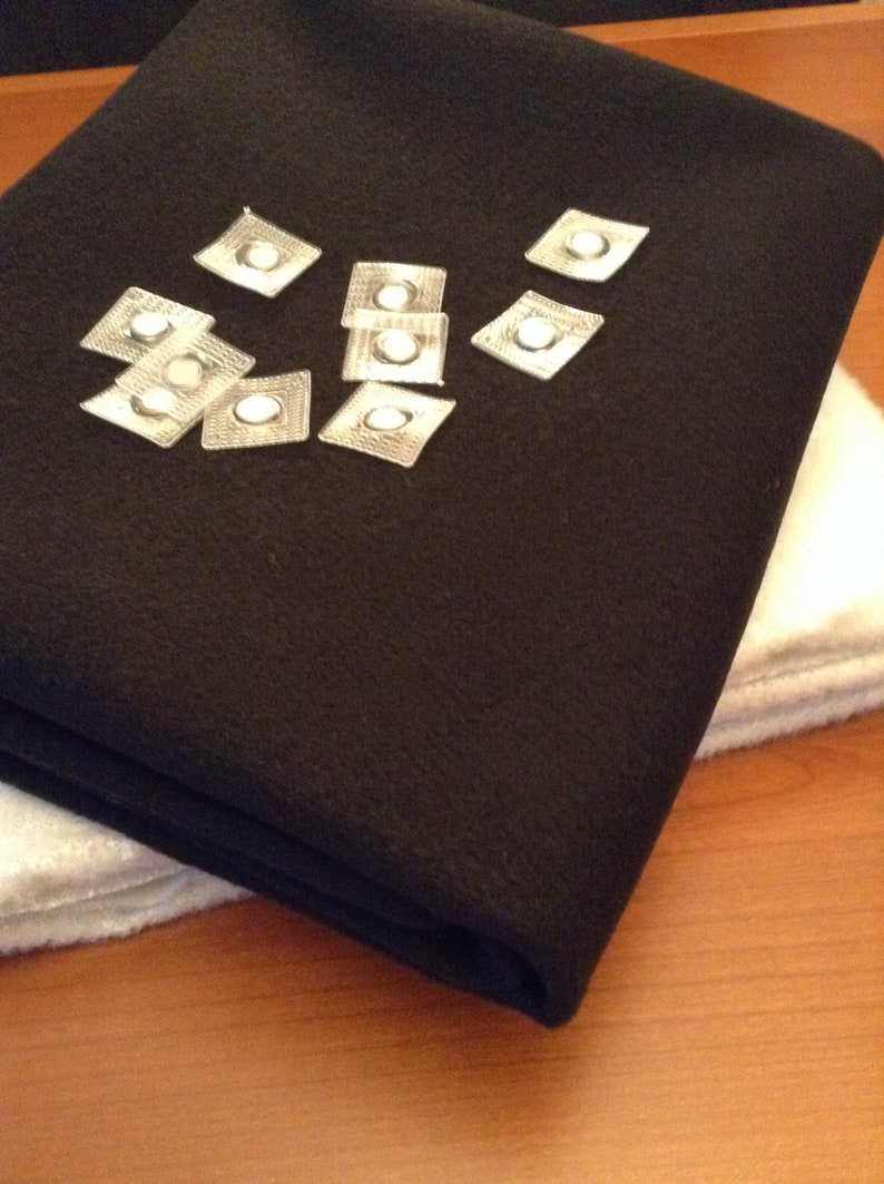 DIY Fireplace cover kit (Felt fabric, insulation material and 8 sew-on  magnets) for metal screen/frame