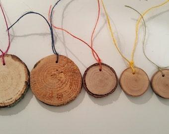 Natural Wood Gift Tags (set of 5)