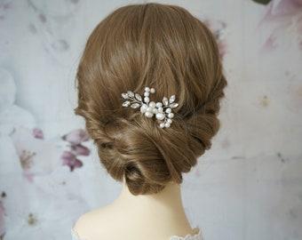 Bride Hair Jewelry Freshwater Pearls Rhinestone Glamour Hair Comb Noble Bride Headdress wedding headpiece