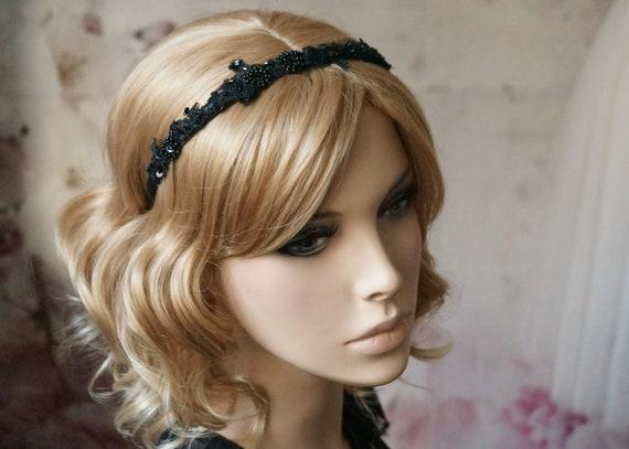 Haarreif mit geflochtenen Pailetten Haarschmuck Kopfschmuck hair haar Geflochten