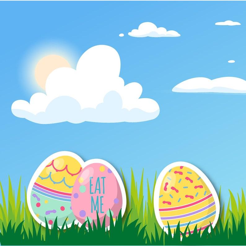 Dicks /& Boobs Easter Egg Stickers