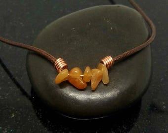 Orange Jade necklace choker, Healing Choker Necklace, Crystal Choker, Crystal choker, Crystal Necklace, Healing Jewelry, Stone Choker