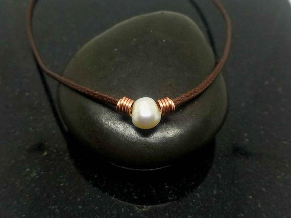 Pearl necklace choker, Healing Choker Necklace, Pearl Choker, Pearl Necklace, Healing Jewelry, Stone Choker, Fresh water pearl